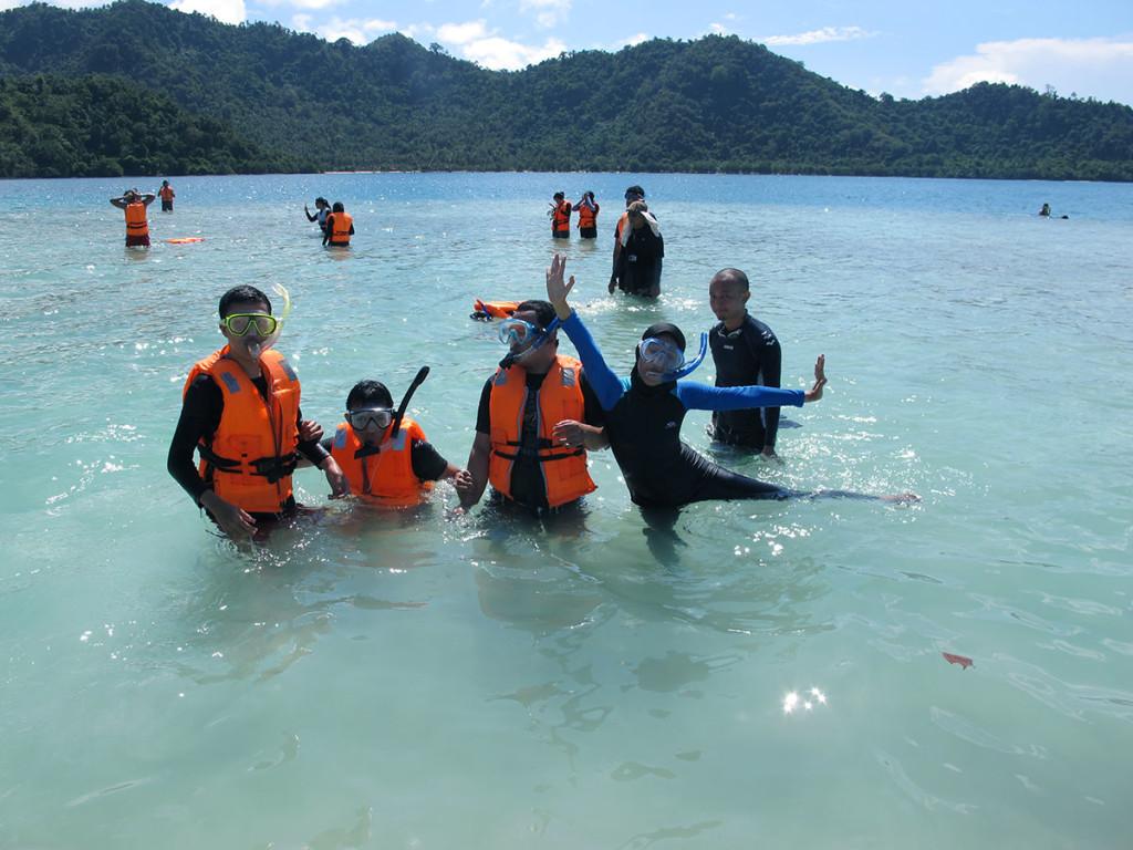 Salah satu spot snorkeling