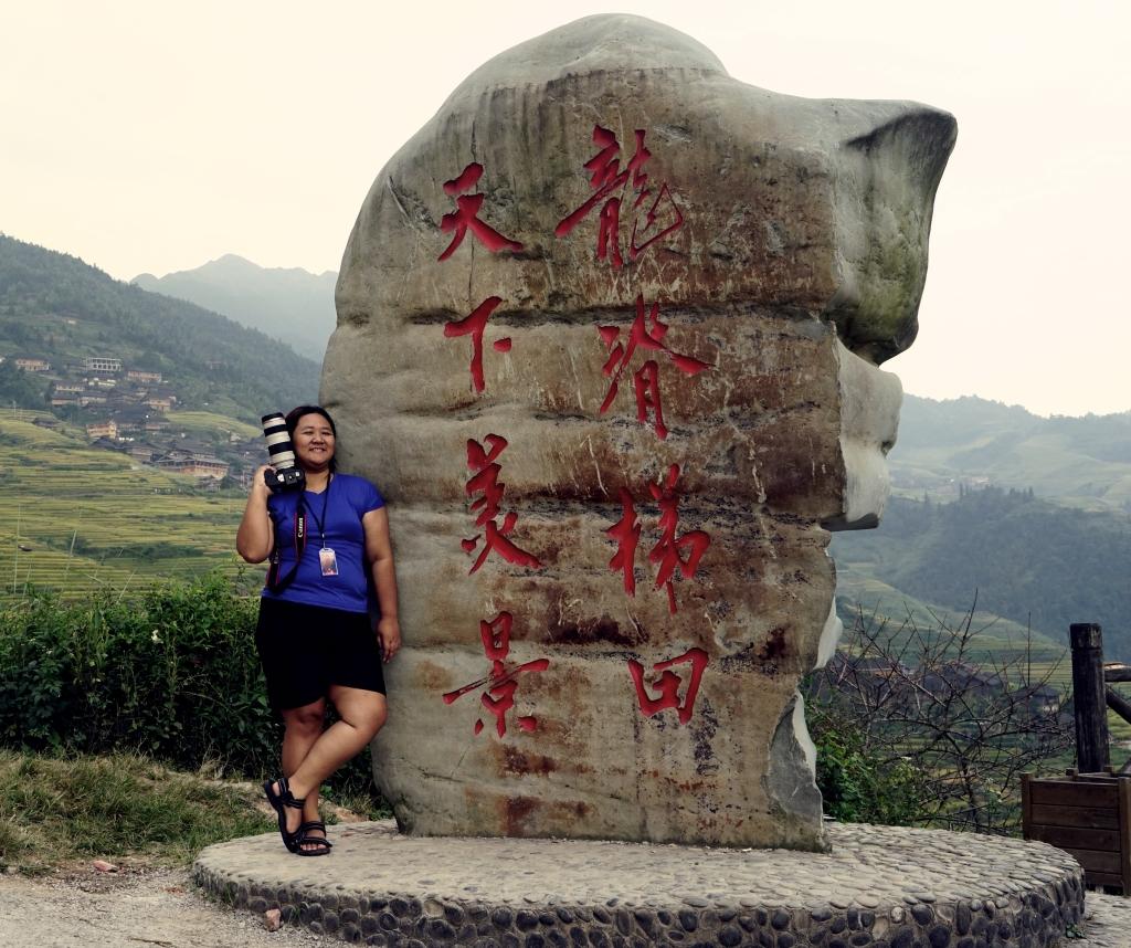 Nampang dulu di Tugu desa Longji