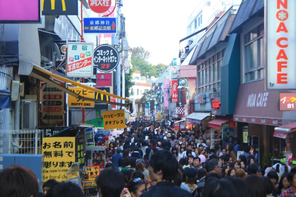 keramaian di Takeshita St