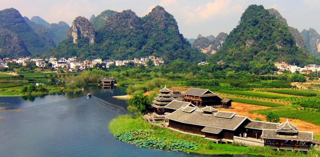 View dari atas taman Shangrila