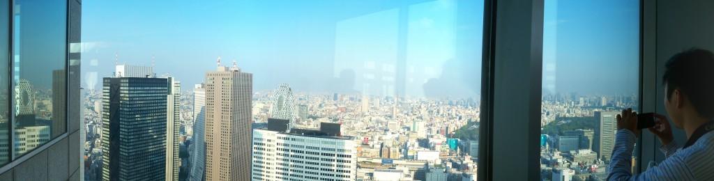 Panorama Kota Tokyo dari TMG Building