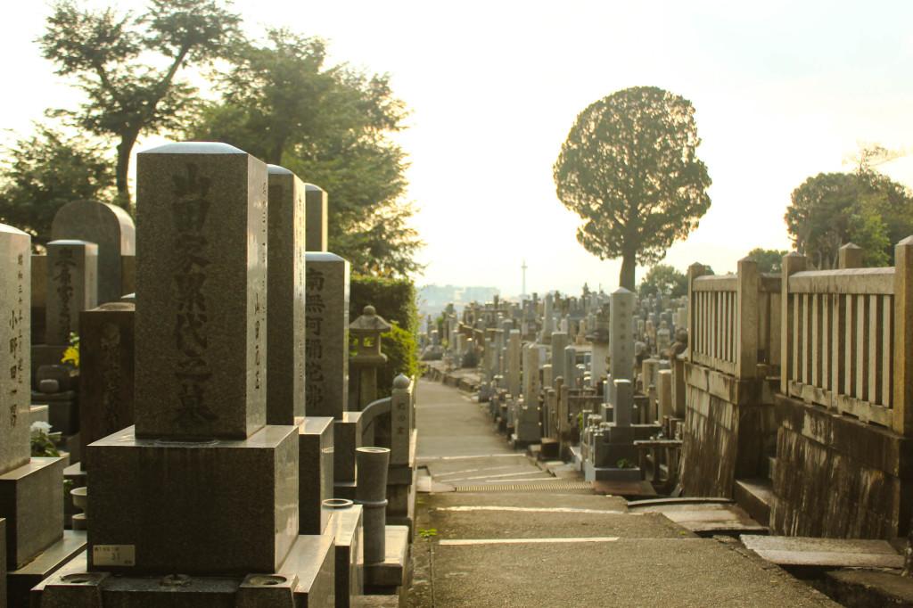 Jalan setapak di komplek pemakaman