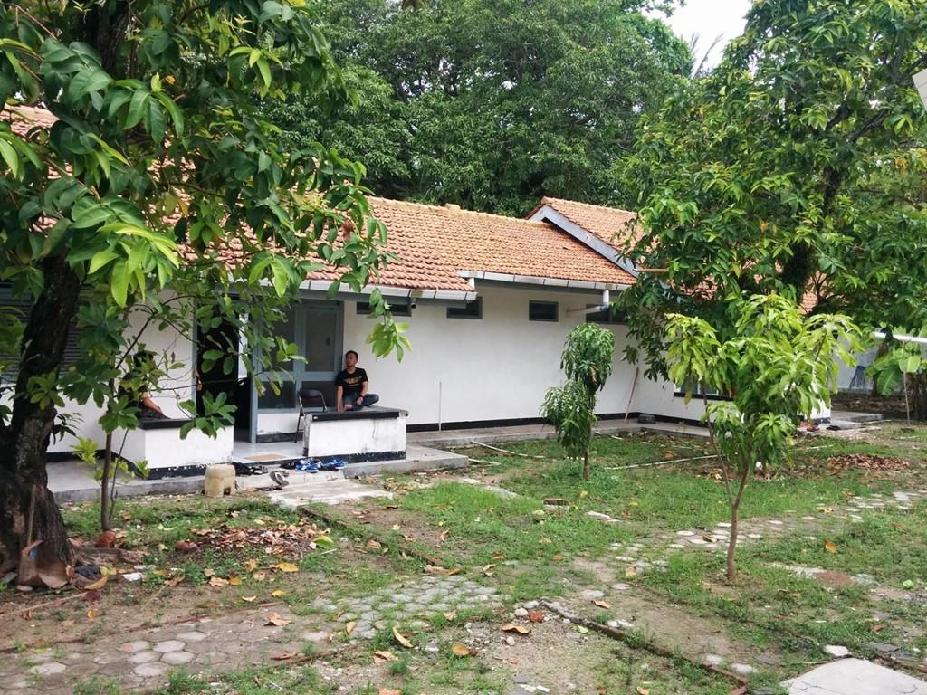 Lokasi tempat kami menginap di Pulau Biawak