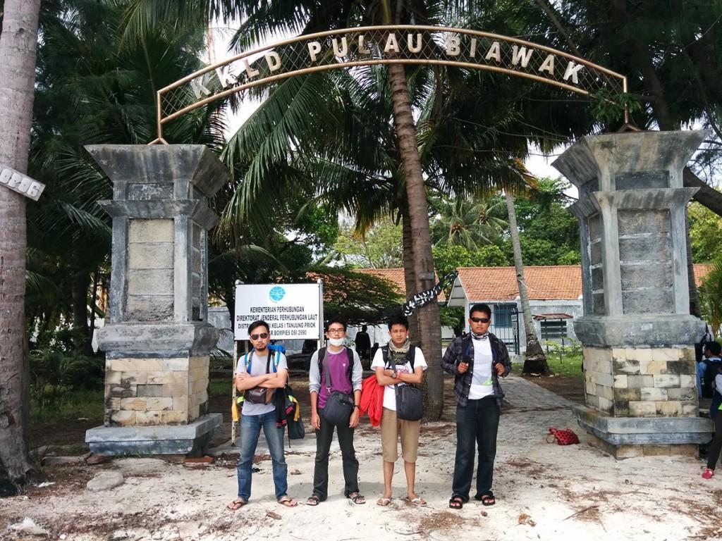 Gerbang UTama yang merupakan pintu masuk pulau biawak