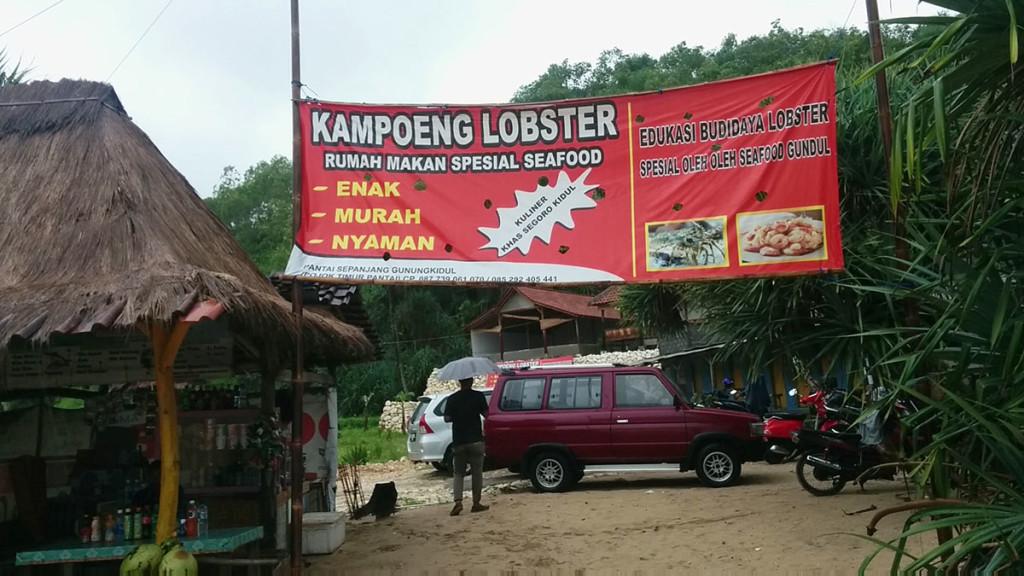 spandung kampung lobster pantai sepanjang