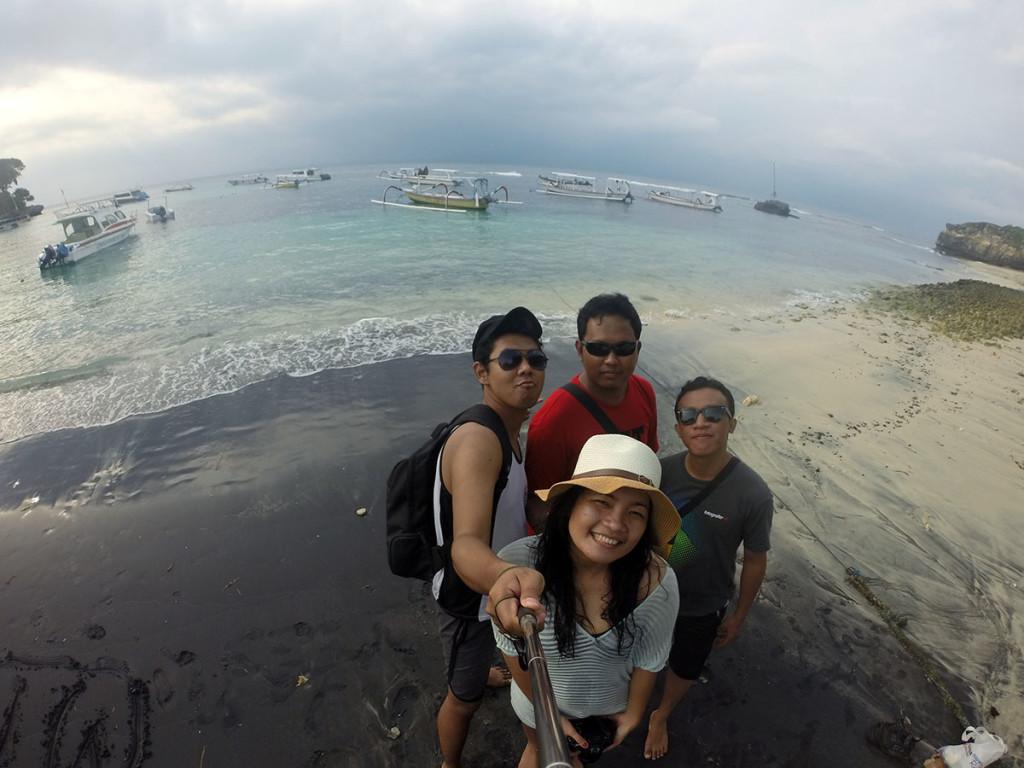 selfie di Mushroom beach Nusa Lembongan