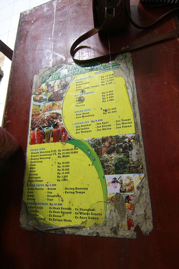 menu warung makan bu fat